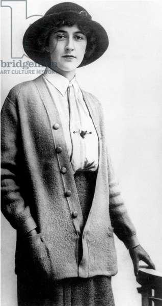 English novelist Agatha Christie (1891-1976) c. 1920