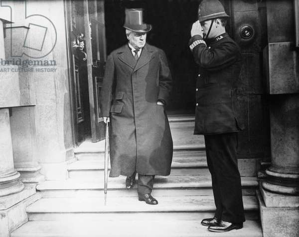 Herbert Henry Asquith (1852-1928) English Prime Minister leaving the war office in October 1915