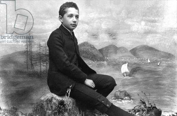 Albert Einstein (1879 - 1955) future physicist here in 1893, 14 years old, in Munich in 1893
