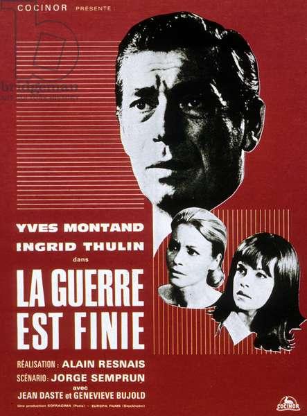 Affiche du film La guerre est finie de AlainResnais avec Yves Montand 1966