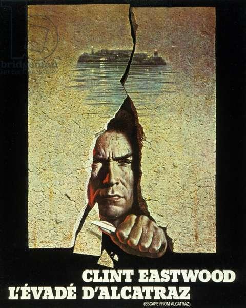 Affiche du film L'evade d'Alcatraz (Escape from Alcatraz) de DonSiegel avec Clint Eastwood  1979