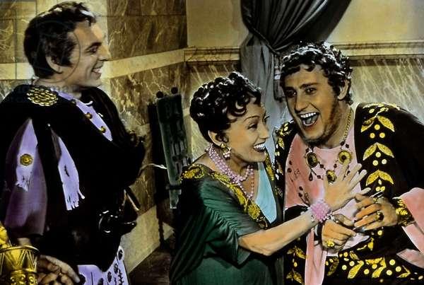"Film ""Les week ends de Neron"" 1956 de Steno avec Alberto Sordi Vittorio De Sica et Gloria Swanson"