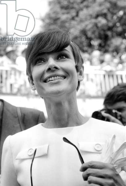 Actress Audrey Hepburn here in Lausanne February 9, 1970 After Birth of her 2Nd Son Lucas (b/w photo)