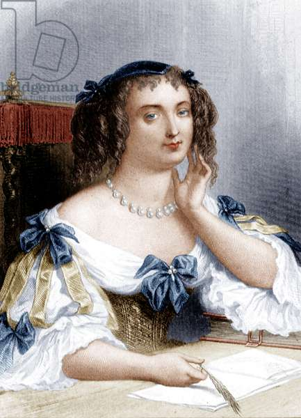 Marie de Rabutin-Chantal (coloured engraving)