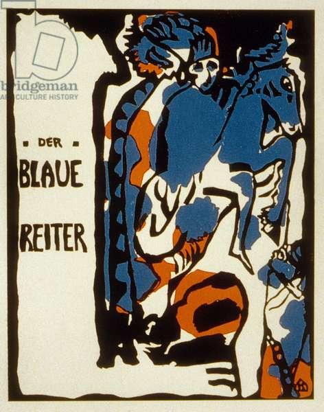 Cover of Blaue Reiter almanac, 1912 (colour litho)