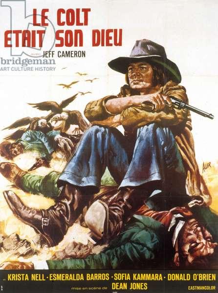 Affiche du film Le colt etait son dieu (La colt era il suo Dio) de LuigiBatzella avec Jeff Cameron 1970