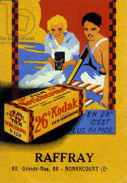 French advertisement for Kodak 30's
