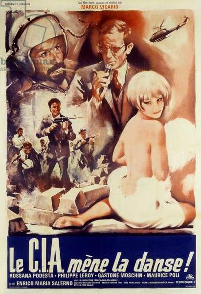 La CIA mene la danse Il grande colpo dei sette uomini d'oro de MarcoVicario avec Philippe Leroy et Rossana Podesta 1967