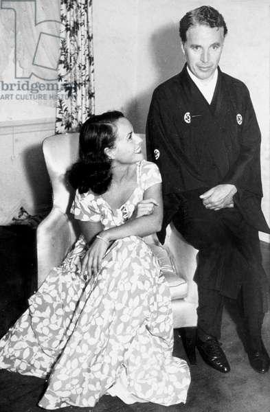 Charlie Chaplin and Paulette Goddard c. 1930