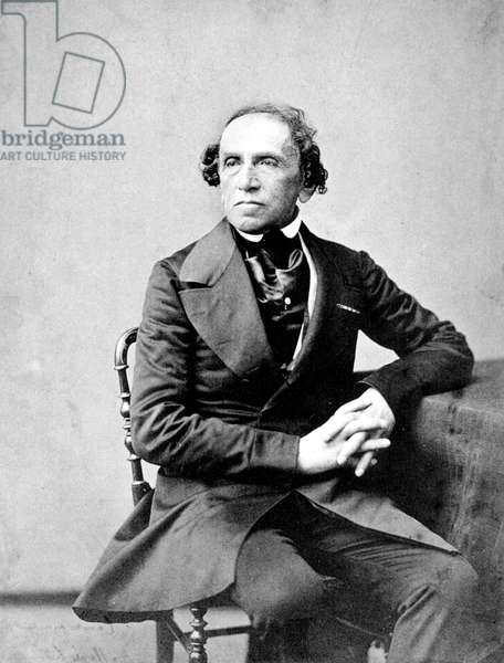 German composer Giacomo Meyerbeer photographed by Nadar, 1860
