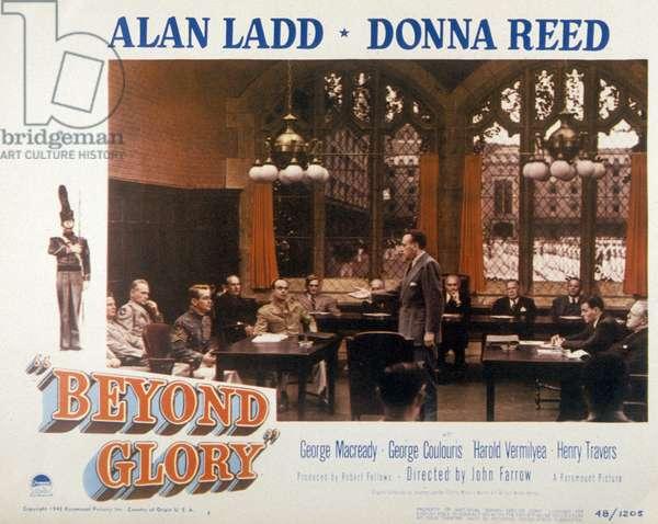 Retour sans espoir Beyond glory de JohnFarrow avec Alan Ladd et Donna Reed 1948