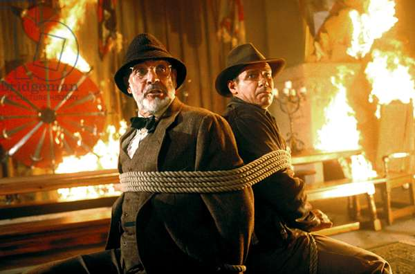 Indiana Jones et la derniere croisade IndianA JONES AND THE LAST CRUSADE de StevenSpielberg avec Sean Connery et Harrison Ford, 1989