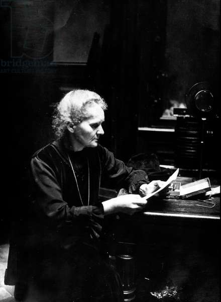 Marie Curie (1867-1934) French physicist, Physics Nobel Prize in1903, chemistry Nobel prize in1911, here in 1925