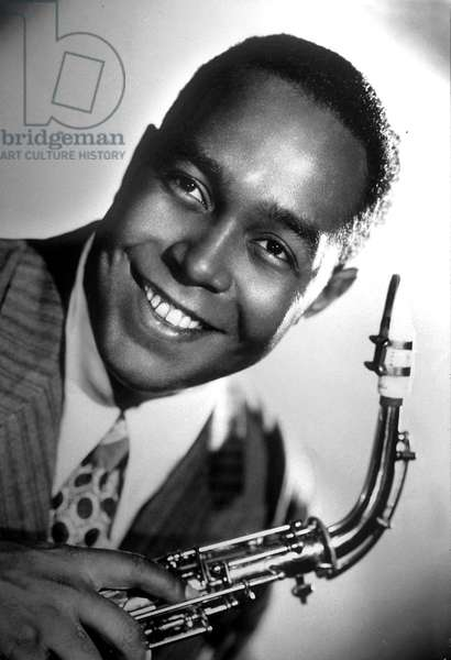 American saxophonist and jazz composer Charlie Parker (1920-1955) in 1946