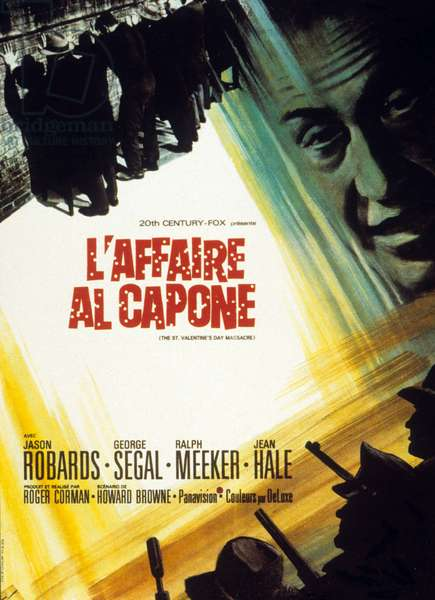 Affiche du film l'affaire Al Capone (The St. Valentine's Day Massacre) de RogerCorman 1967