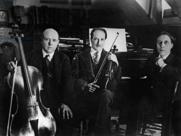 Jacques Thibaud (violonist), Pablo Casals (cellist), Alfred Cortot (pianist) c. 1927