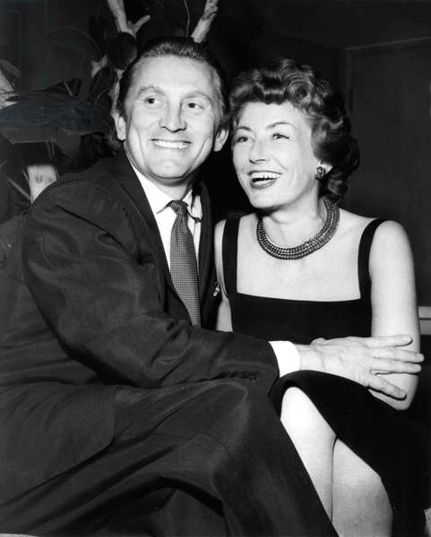 Actor Kirk Douglas with wife Anne in 1955