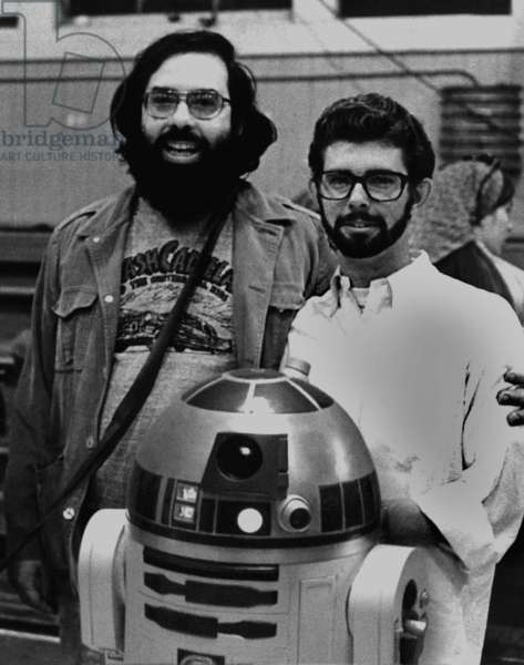 Francis Ford Coppola and George Lucas on set of film Star wars, from documentary R2D2: BENEATH THE DOMER2D2