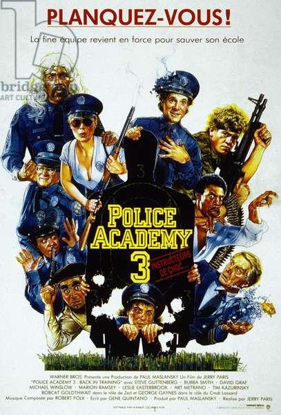 Police Academy3: Instructeurs de Choc POLICE ACADEMY 3: BACK IN TRAINING, Steve Guttenberg, Shawn Weatherly, 1986