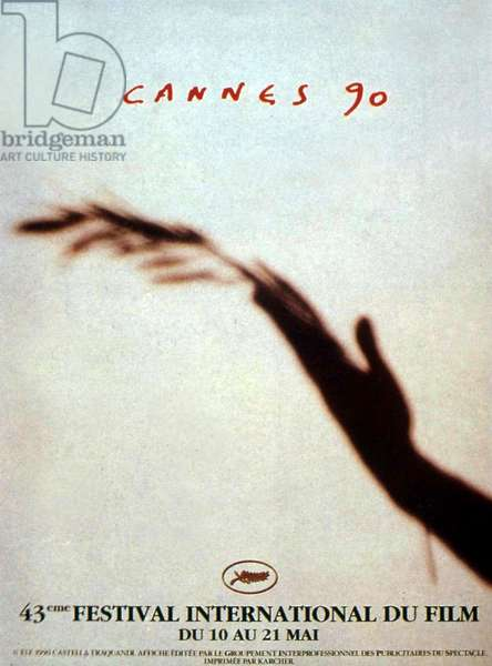 Poster by Castella Traquandi for the 43rd Cannes International Film Festival in 1990