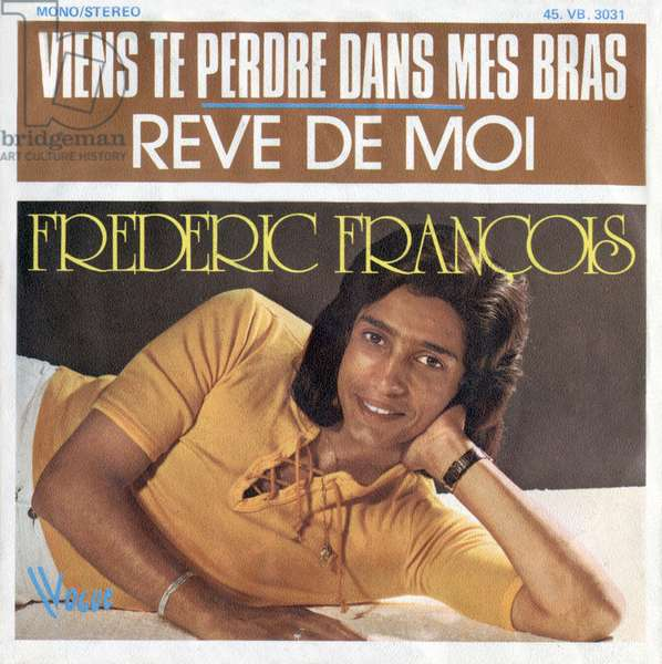 """Frederic Francois 1973 """"Come to lose you in my arms"""" and """"dream of me"""" vinyl record sleeve"""