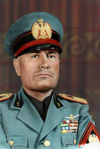 Benito Mussolini (1883-1945), fascist Italian leader from 1922 to 1943, here in 1940