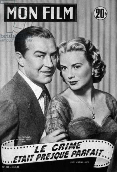 Le crime etait presque parfait DIAL M FOR MURDER de AlfredHitchcock avec Ray Milland, Grace Kelly, 1954