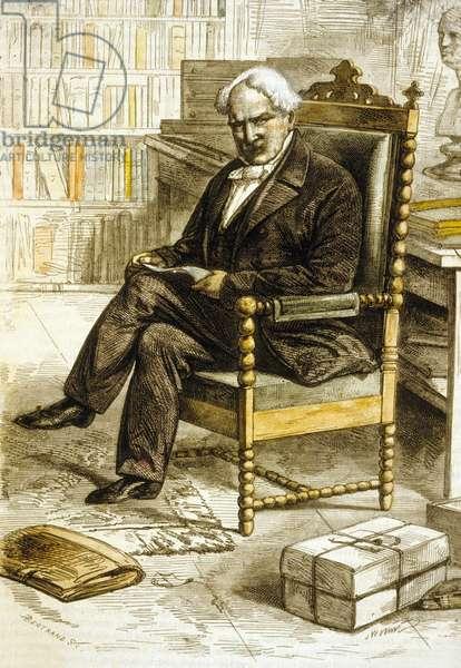 Alexander von Humboldt (1769-1859) German goegrapher, naturalist and explorer, engraving