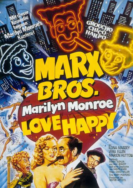 La peche au tresor Love Happy de David Miller avec Marilyn Monroe et Groucho Marx 1949