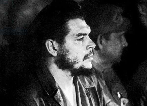Ernesto Che Guevara, cuban revolutionary leader, in 1963 during a meeting of the trade union of cuban workers in Havana (photo Roberto Salas)