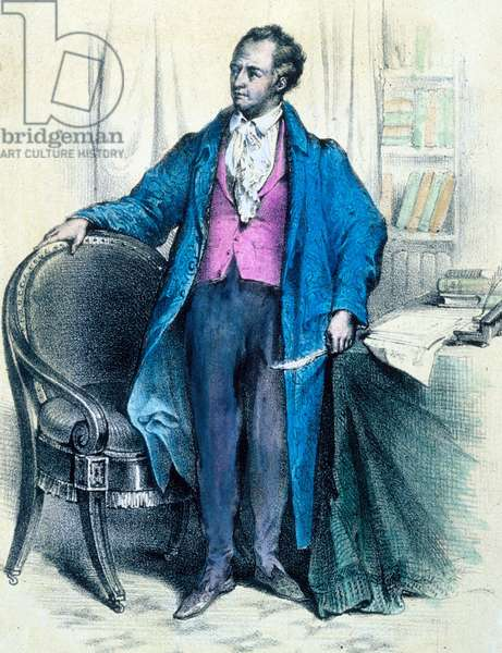 Johann Wolfgang von Goethe (1749-1832) German writer, engraving by Thomas