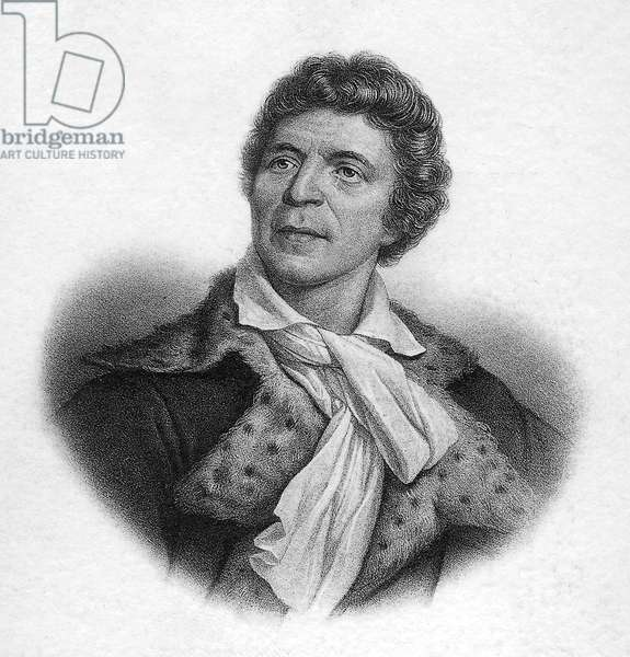 Jean-Paul Marat (1744-1793) deputy of Convention, founder of a paper, defender of people, he was killed by CharlotteCorday, engraving