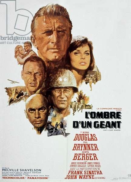 affiche du film Cast a giant shadow by MelvillesHavelson with Kirk Douglas Yul Brynner Frank Sinatra John Wayne and Senta Berger 1966