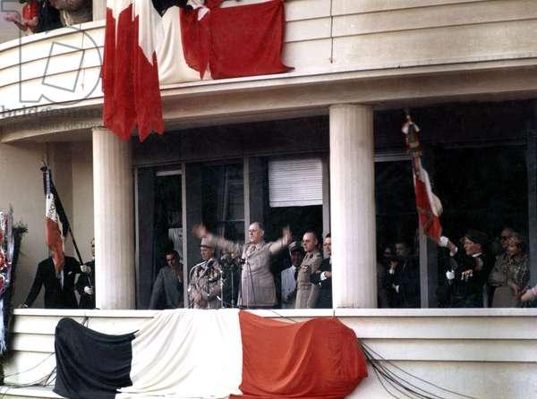 speech of De Gaulle in Algiers June 4, 1958 during the war in Algeria