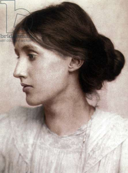 Virginia Woolf (1882-1941) English novelist, picture by George Charles Beresford in 1902