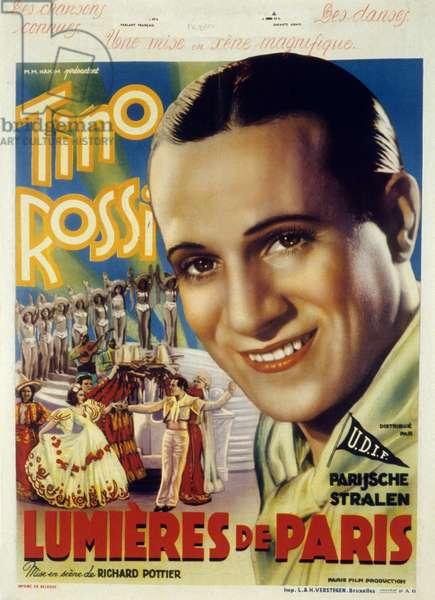 Lumieres de Paris Lights of Paris de RichardPottier avec Tino Rossi, Michele Alfa et Conchita Montenegro 1938