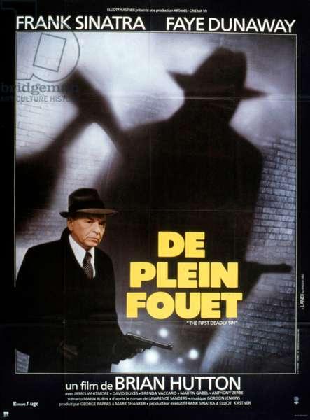 Affiche du film Le premier péché mortel de BrianHutton avec Frank Sinatra et Faye Dunaway 1980
