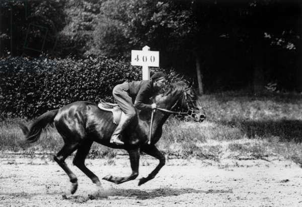 Josephine Baker on a horse 1948
