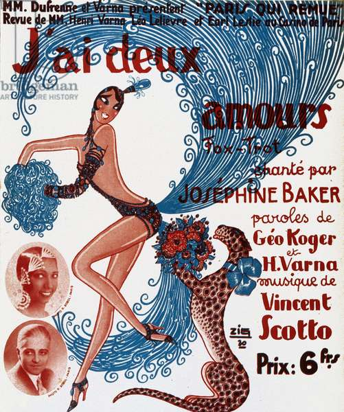 Show poster: J'ai deux amours, sung by Josephine Baker