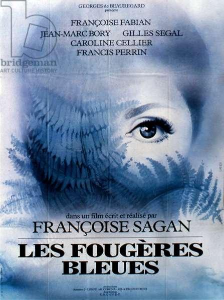 Affiche du film Les fougeres bleue de FrancoiseSagan avec Francoise Fabian Jean Marc Bory Gilles segal Caroline cellier et Francis Perrin 1977