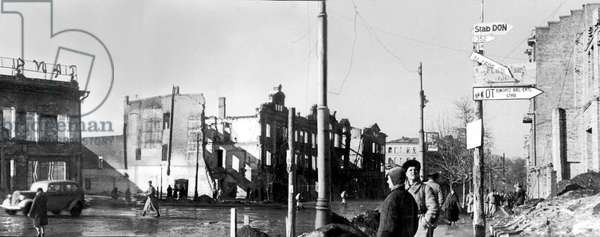 City of Rostov after bombings during ww2
