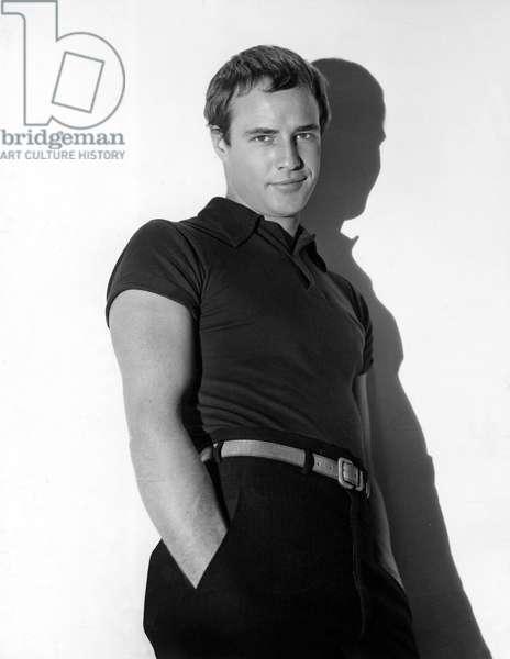 Actor Marlon Brando (1924-2004) in 1952