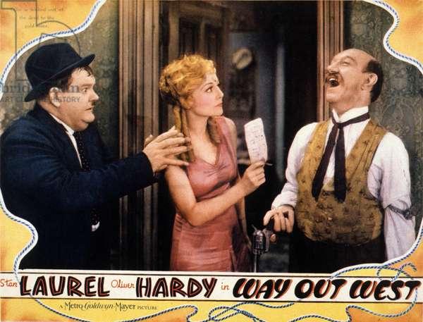 Laurel et Hardy au Far West (Way Out West) de James W.