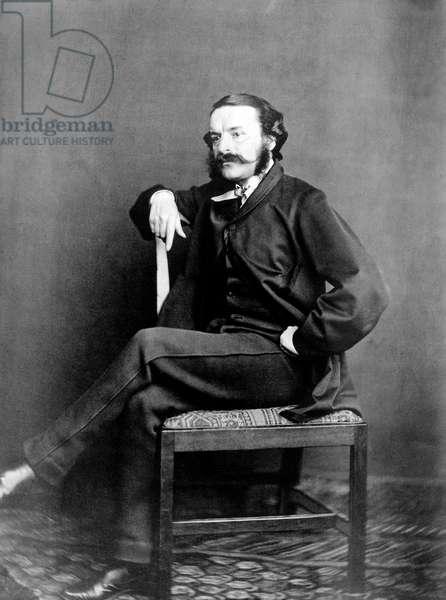 Francois Victor Hugo (1828-1873), son of Victor Hugo, here after 1861