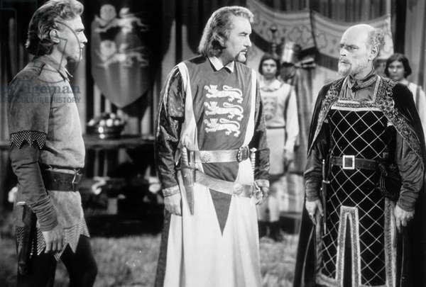 Richard Coeur de Lion King  Richard and the Crusaders de DavidButler avec a droite Laurence Harvey, 1954 (d'apres WalterScott)