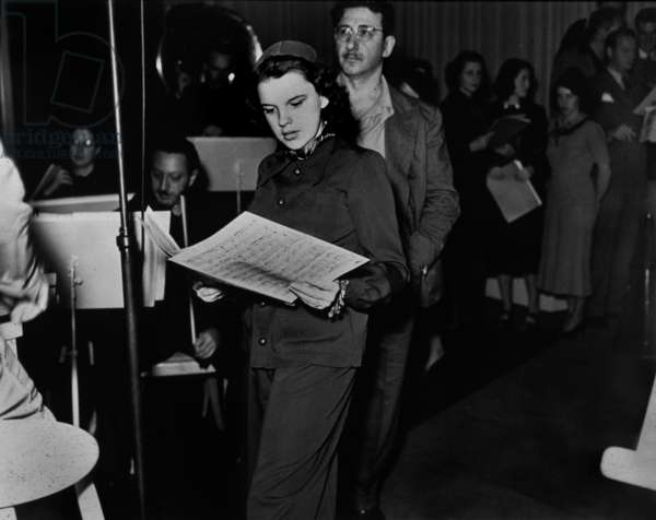 "Judy Garland and Max Terr during rehearsals for MGM ""Good News of 1938"""