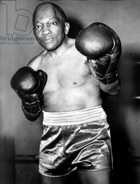Jack Johnson (1878-1946) American black boxer c. 1920