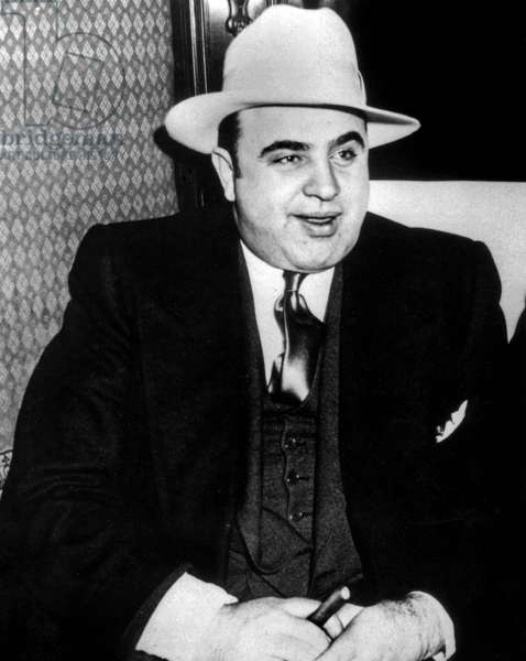 Al Capone (1899-1947) American gangster, mafioso in Chicago at time of prohibition here c. 1927