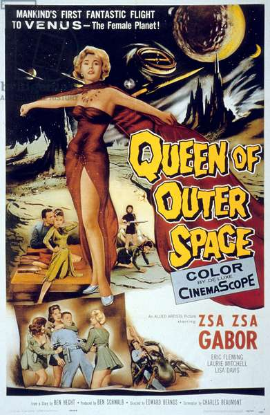 Affiche du film Queen OF OUTER SPACE de EdwardBernds avec Zsa Zsa Gabor, 1958