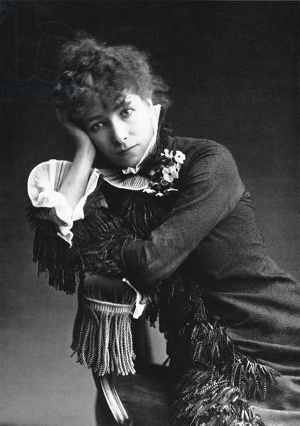 Sarah Bernhardt (1844-1923), photo by Nadar in 1877